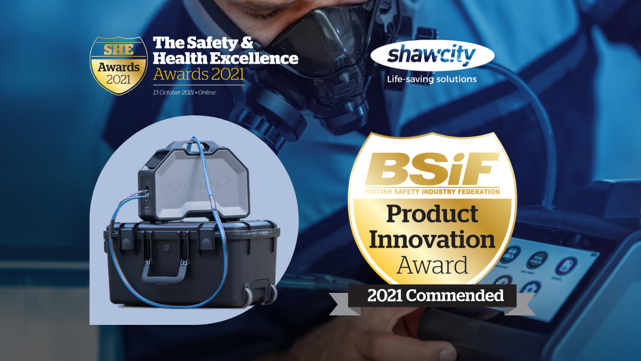 Shawcity is delighted to announce that the OHD QuantiFit2 fit testing system has received a national 'Commended' Award from the British Safety Industry Federation (BSiF) for Product Innovation in 2021.